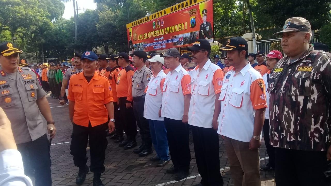 Apel Gelar Pasukan Aman Nusa II Orari Lokal Kanjuruhan