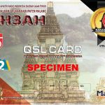 YH3AH QSL Card Special Edition 75 Years Republic Of Indonesia