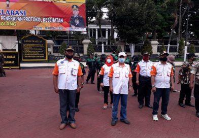 Apel Deklarasi Relawan Pengawas dan Sosialisasi Penanganan Covid-19 Orari Lokal Kabupaten Malang Bersama Polres Malang
